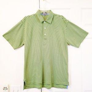 Alan Flusser Green Golf Polo Shirt Pearl Cotton